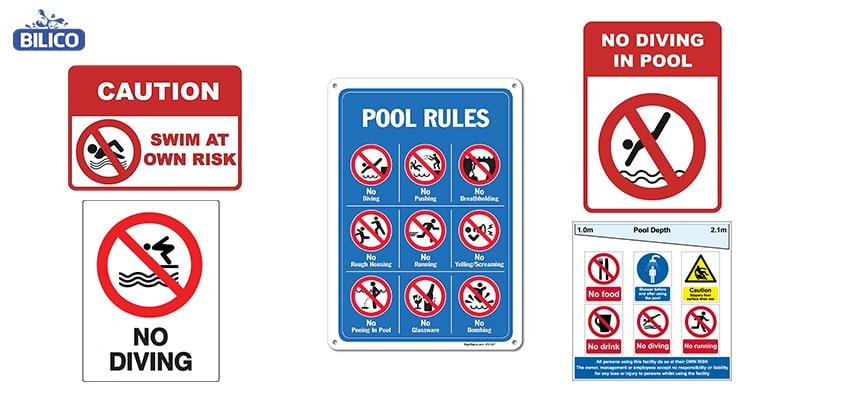 Đặc điểm của biển báo bể bơi